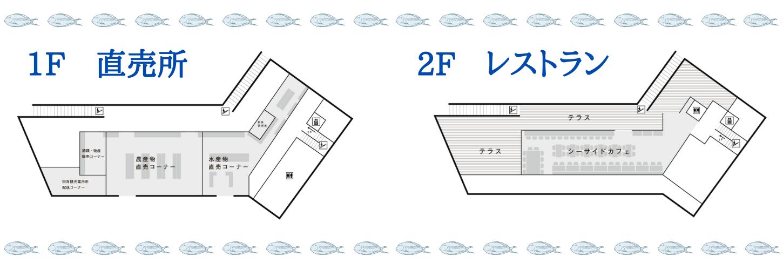 平戸瀬戸市場フロアマップ
